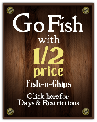 half price fish-n-chips special